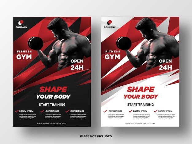 Fitness gym flyer template. Premium Vector