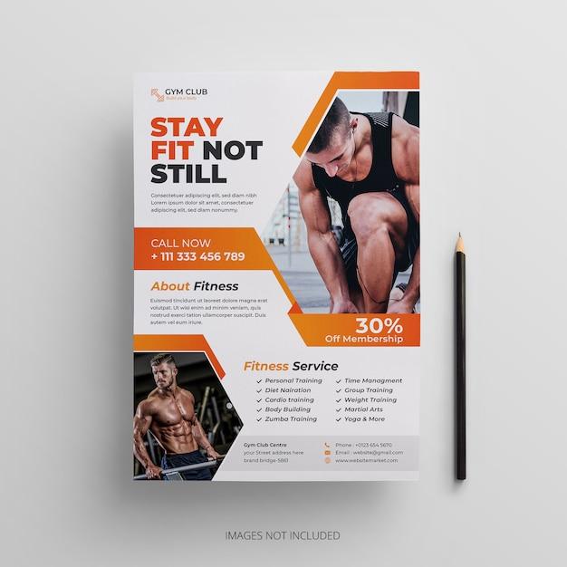 Fitness-gym flyer template Premium Vector