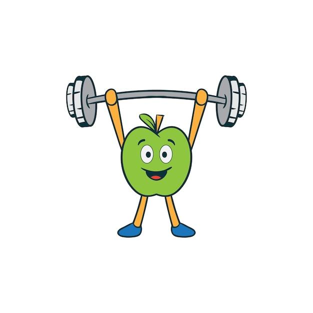 Premium Vector | Fitness gym fruit cartoon mascot illustration