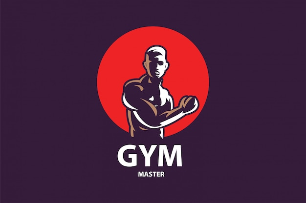 Fitness gym logo design template Premium Vector