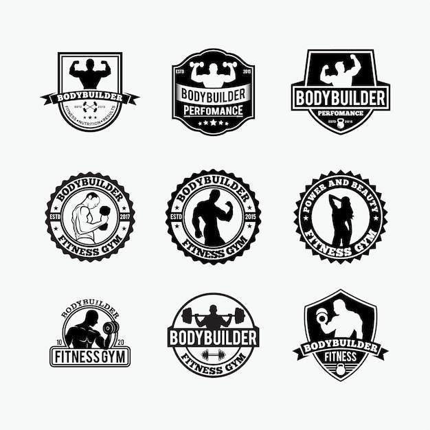 フィットネスジムのロゴ Premiumベクター