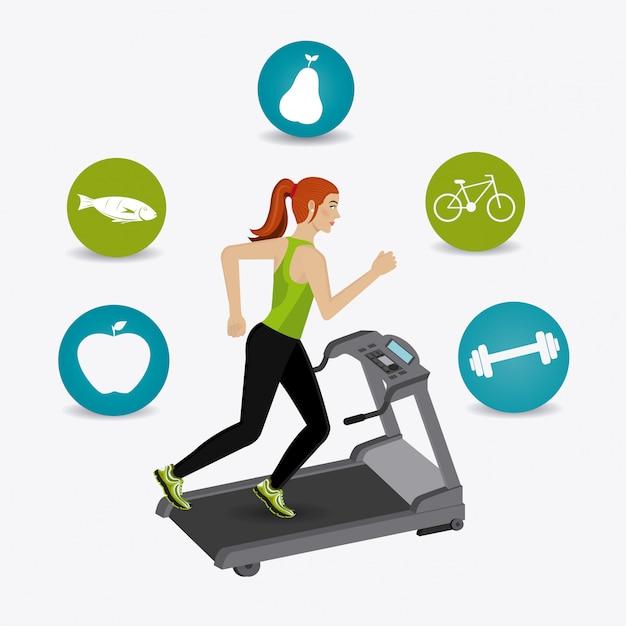 Fitness lifestyle design. Premium Vector