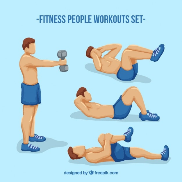 Fitness men workouts set
