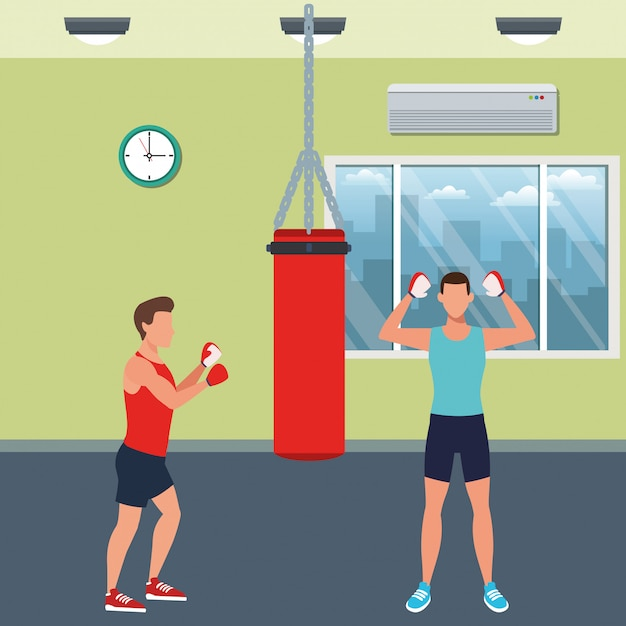 Fitness people training Premium Vector
