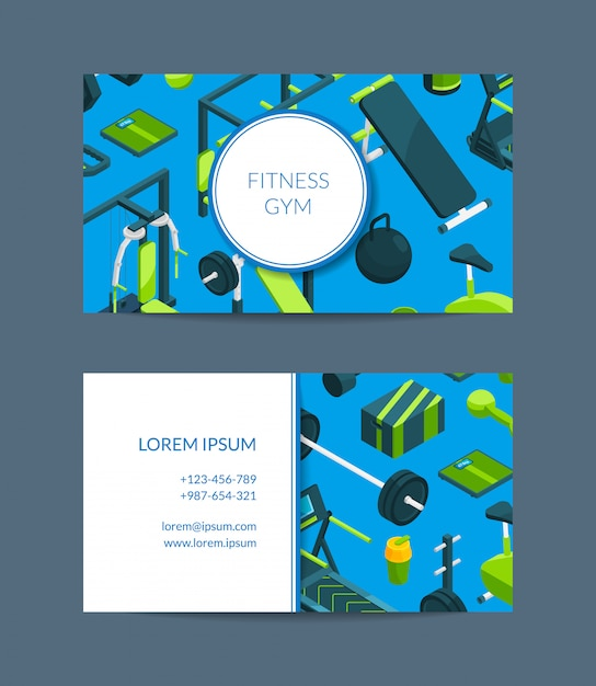 premium vector fitness and sports club business card template https www freepik com profile preagreement getstarted 5501563