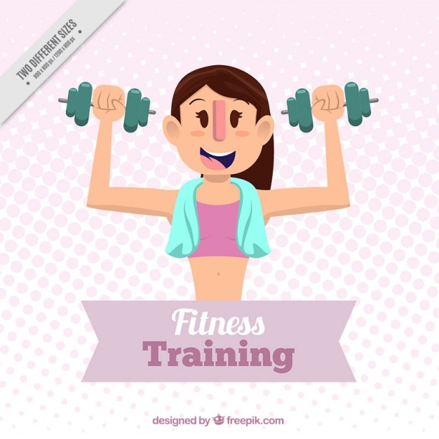 Fitness training for her