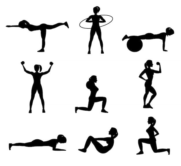 Woman fitness workout