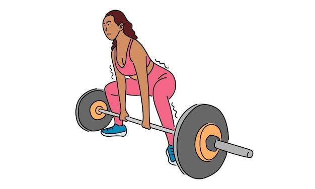 Женщина фитнеса, спортивная концепция Premium векторы