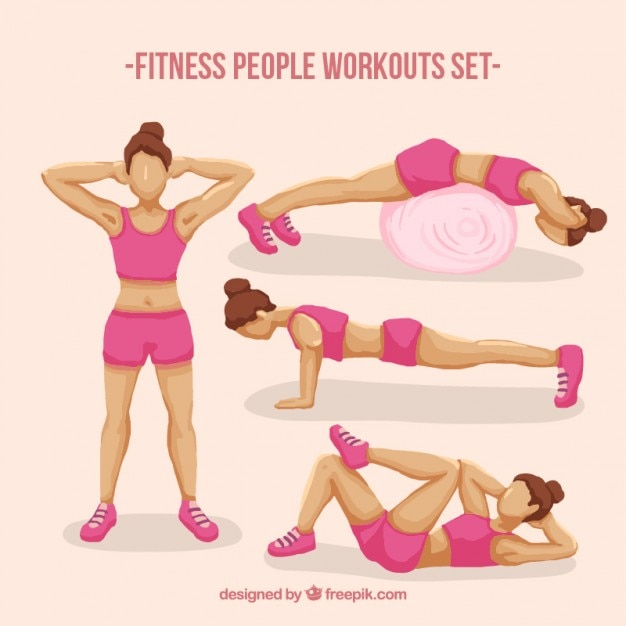 Fitness women workouts set