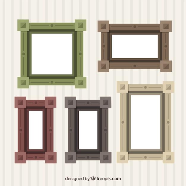 Download Vector - Romantic frames in flat design - Vectorpicker