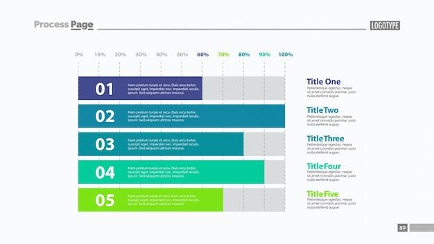 Five Horizontal Bars Slide Template