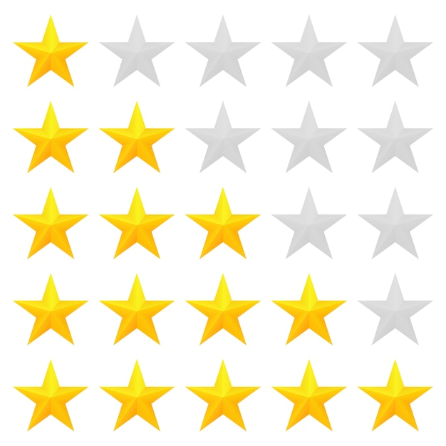 Five star rating Premium Vector
