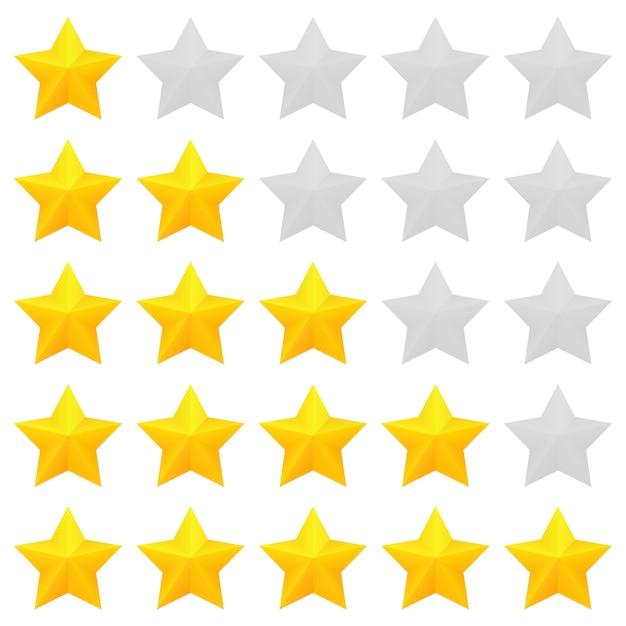 Five star rating Premium Vector