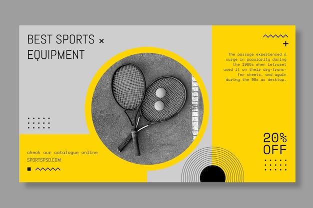 Fla lay теннис спортивный баннер Premium векторы