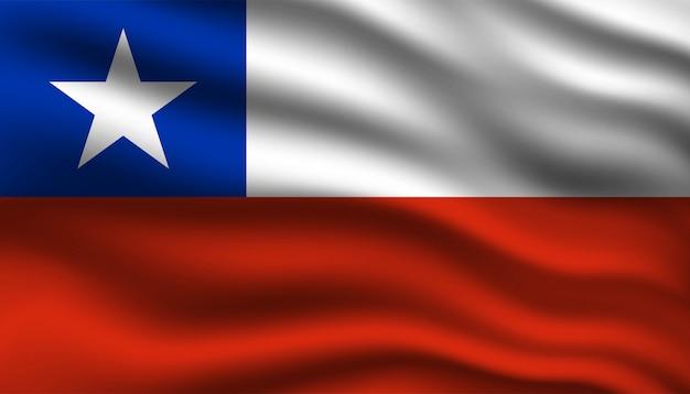 Flag of chile background. Premium Vector