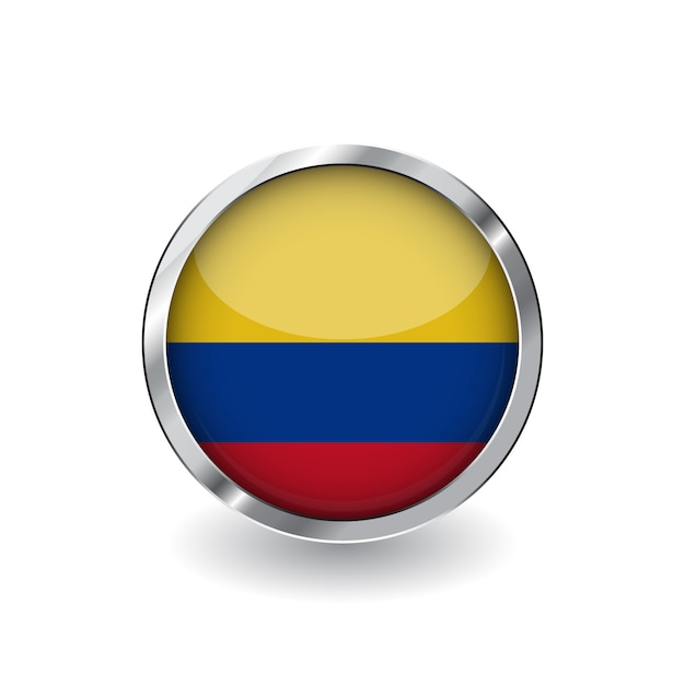 Flag of colombia Premium Vector