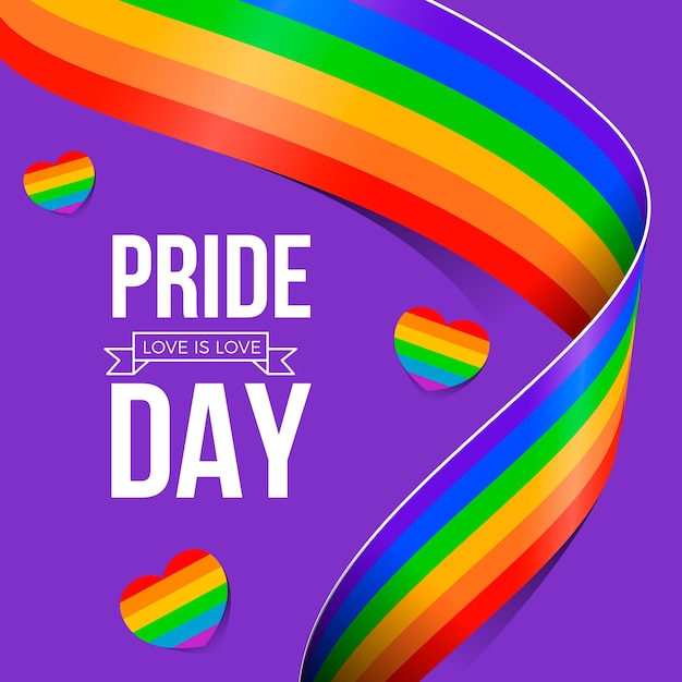 Flag design pride day event Free Vector