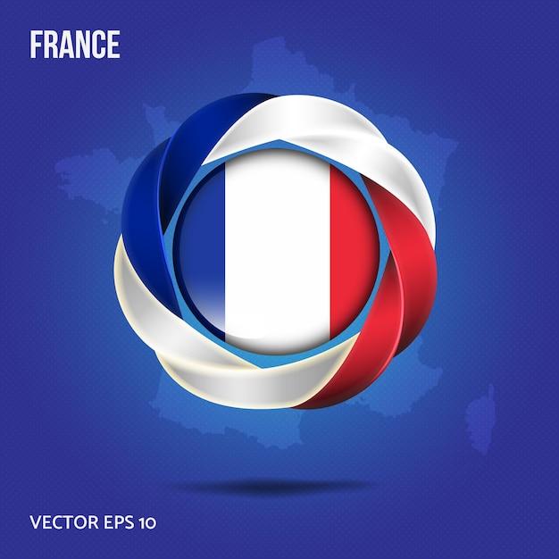 フランスのピンにフラグを立てる Premiumベクター