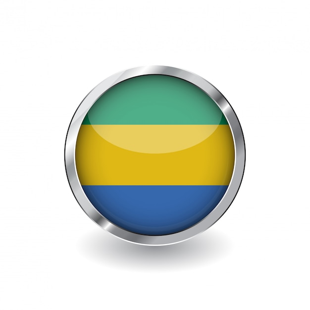 Flag of gabon Premium Vector