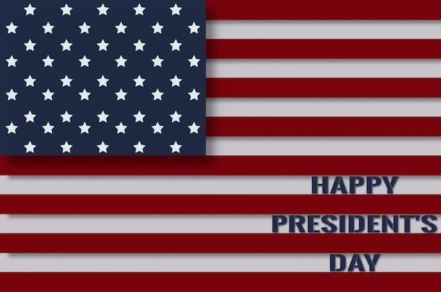 アメリカ合衆国flag happy president's day Premiumベクター