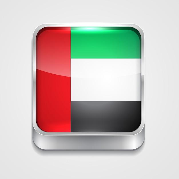 Flag icon of united arab emirates Free Vector