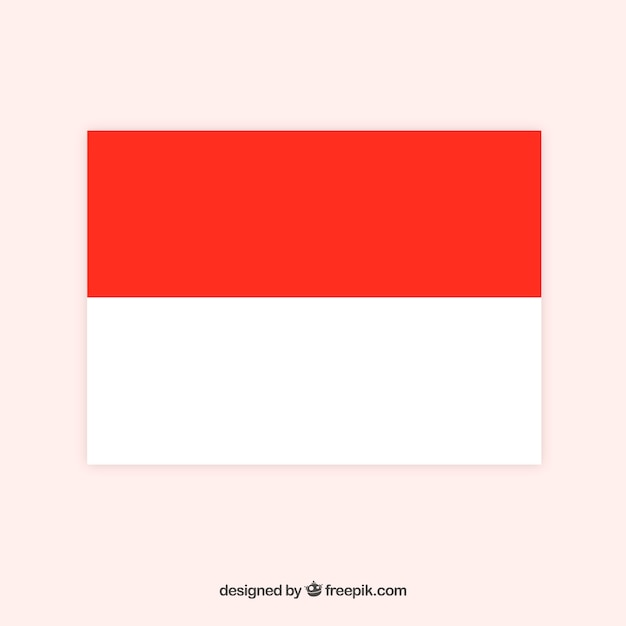 Flag of indonesia Free Vector