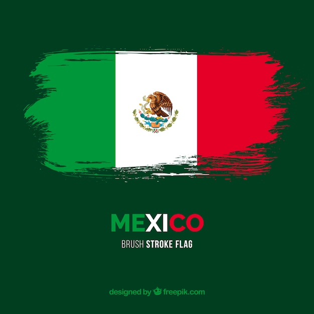 Flag of mexico Free Vector