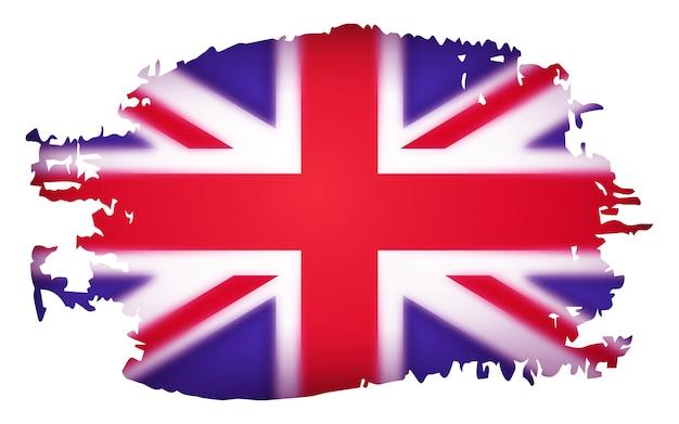 Флаг великобритании, иллюстрации на белом фоне. стереоскопический эффект. Premium векторы