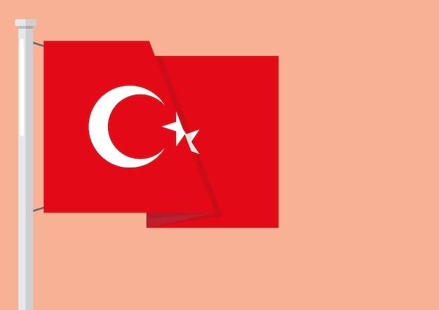 Флаг турции с copyspace Premium векторы