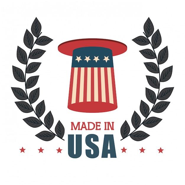 Flag united states america design Premium Vector