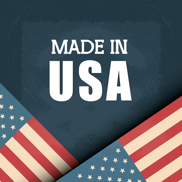 Flag united states america design Premium Vector