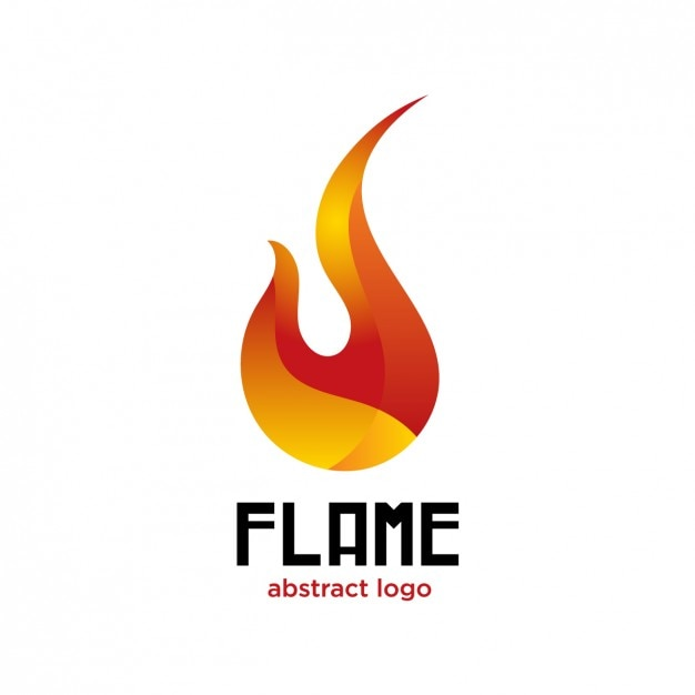 flame abstract logo vector free download