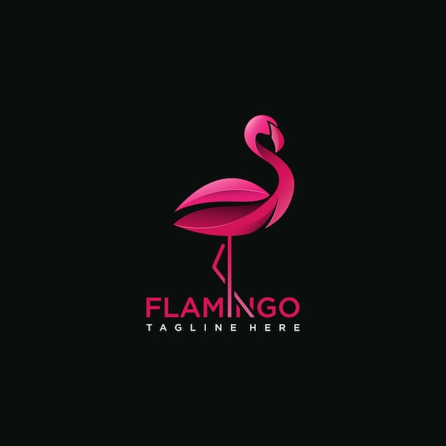 Flamingo bird logo concept Premium Vector