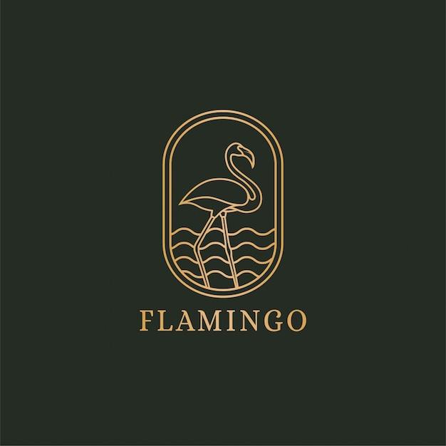 Flamingo logo concept Premium Vector