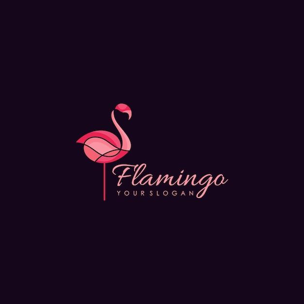 Flamingo logo design Premium Vector