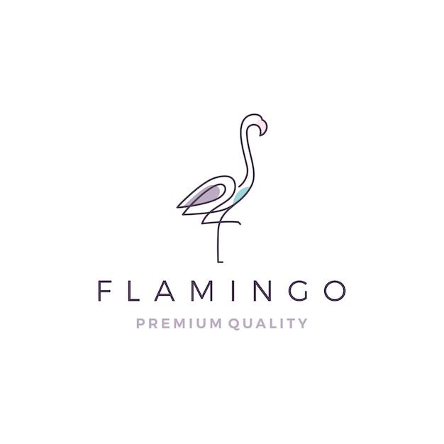 Flamingo logo Premium Vector
