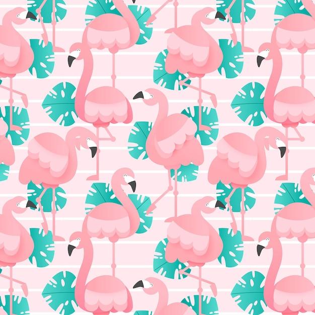 Набор шаблонов фламинго Бесплатные векторы