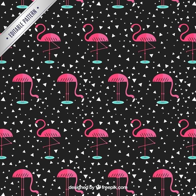 Flamingo pattern Free Vector