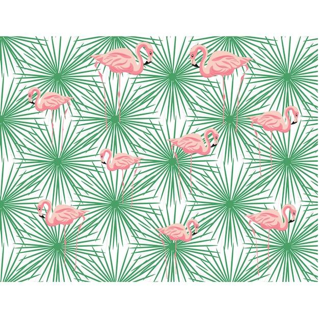 Flamingos pattern design Free Vector