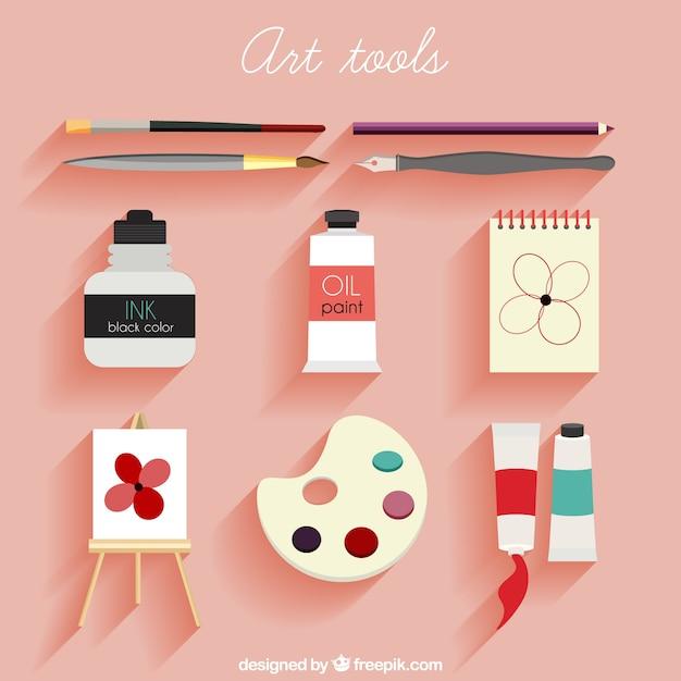 Flar art tools pack Free Vector