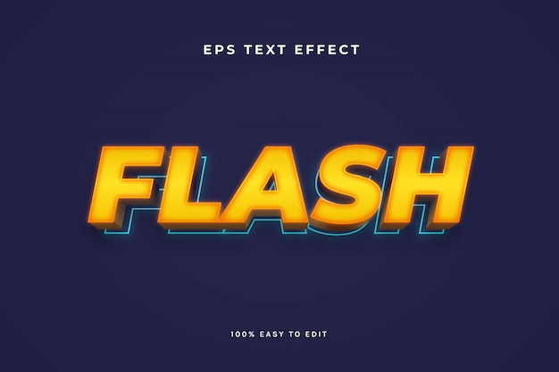 Flash 3d текстовый эффект Premium векторы