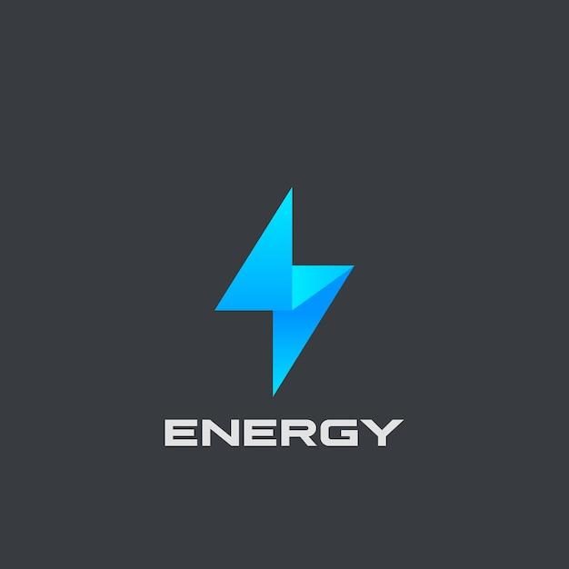 Logo flash isolato sul nero Vettore gratuito
