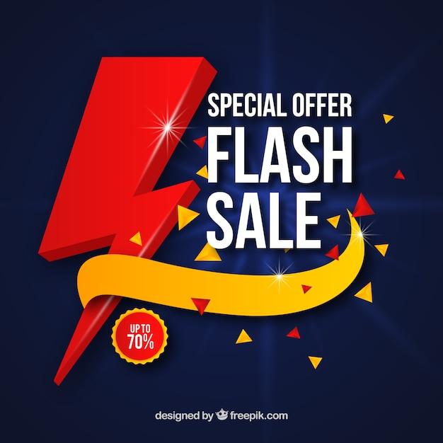 Flash sale background in gradient style Premium Vector