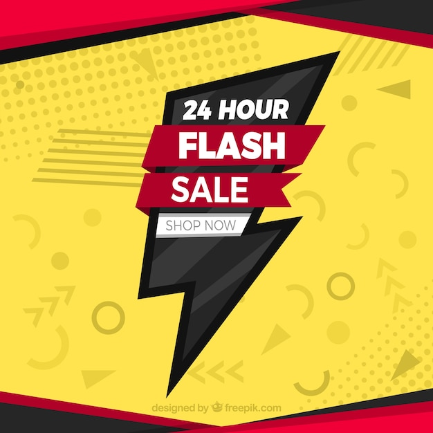Flash sale background in flat style Free Vector