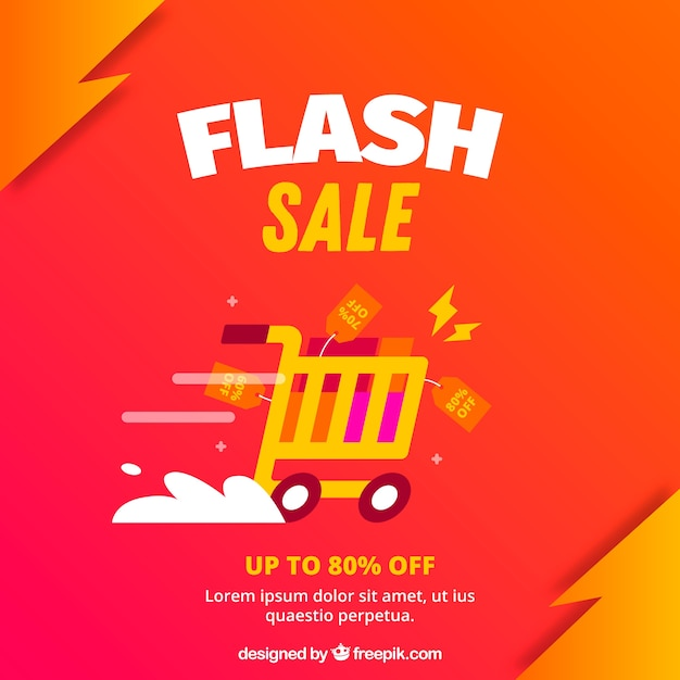 Flash sale background in gradient style