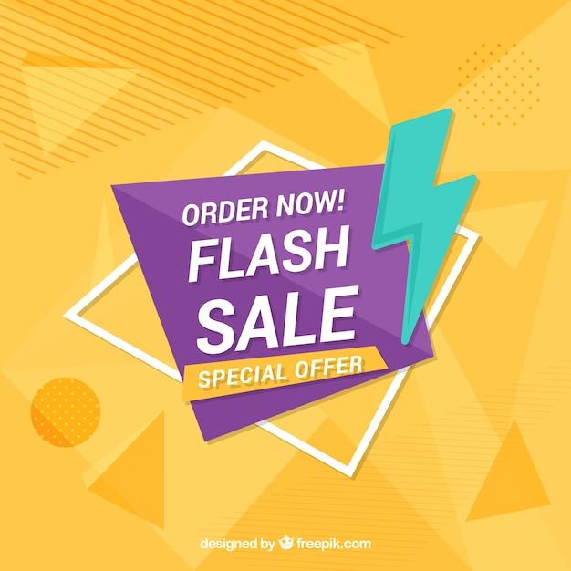 Sfondo di vendita flash con colori sfumati Vettore gratuito