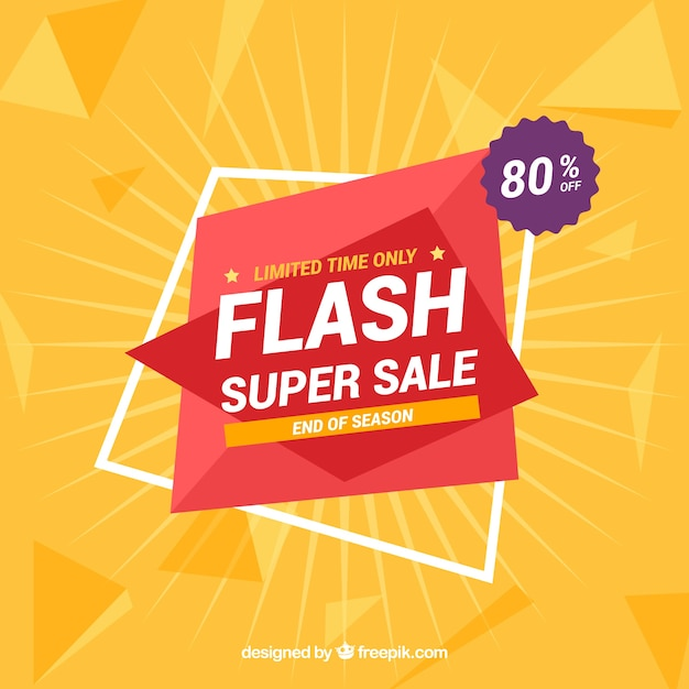 Flash sale background with gradient style Free Vector