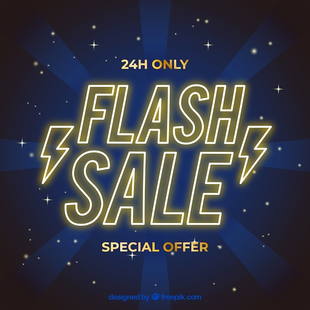 Flash sale background with gradient\ style