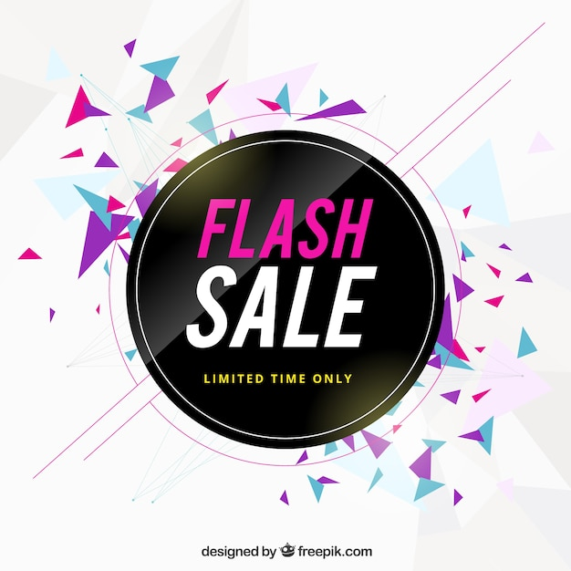 Flash sale background Free Vector