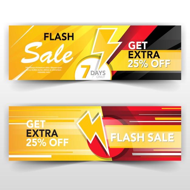 Flash sale banner Free Vector